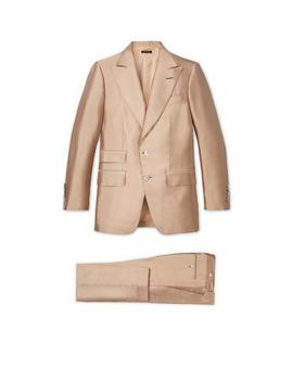 Apricot Silk Shine Atticus Suit by Tom Ford