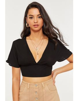 Flared Sleeve Crop Top by Ardene