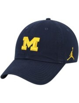 Michigan Wolverines Jordan Brand Heritage 86 Team Logo Performance Adjustable Hat   Navy by Jordan Brand
