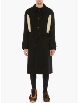 Knit Insert Belted Coat by Jw Anderson