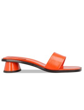 Sonia Orange Patent Leather by By Far