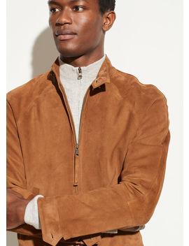 Suede Harrington Jacket by Vince