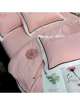 Youth Classic Pink Bedding Set With Velvet Trim Bedclothes 4pcs Comfortable Bedding Bag Fashion Bedding Suits by D Hgate.Com