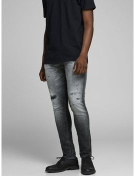 Glenn Royal R216 Rdd Ltd Slim Fit Jeans Fleece Leichte Jacke  Aspen Print T Shirt  Glenn Royal R216 Rdd Ltd Slim Fit Jeans  Diadora Sneaker by Jack & Jones
