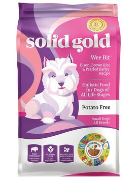 Solid Gold Wee Bit Bison & Brown Rice Recipe With Pearled Barley Small Breed Dry Dog Food by Solid Gold
