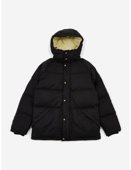 Woolrich Down Hooded Coat   Asphalt by Aime Leon Dore