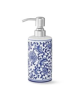 Blue And White Ceramic Soap Dispenser by Williams   Sonoma