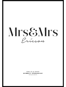 Mrs And Mrs Personal Poster by Desenio