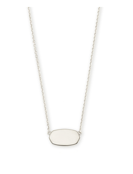 Elisa Short Pendant Necklace In Sterling Silver by Kendra Scott