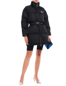 Belted Quilted Shell Down Coat by Prada
