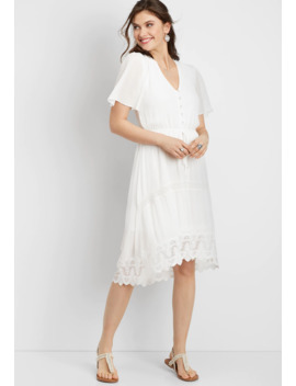 Lace High Low Prairie Dress by Maurices
