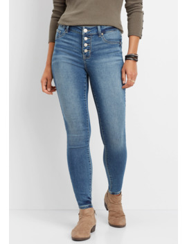 Denim Flex™ Super Soft High Rise Button Fly Jegging by Maurices