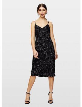 Monochrome Spot Print Bias Slip Dress by Miss Selfridge