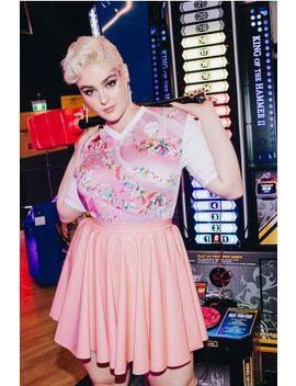 Pvc Blush Pastel Cheerleader Skirt Bm Fit   Limited by Black Milk