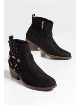 Rila Studded Ankle Bootie by Maurices
