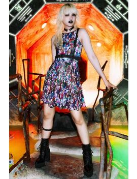 Zombie Nation Vs Hauntingly Cute Inside Out Dress Bm Fit   Limited by Black Milk