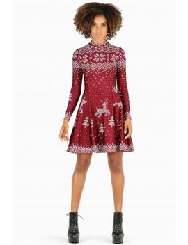 Still Not Actually Knitted Long Sleeve Evil Longline Dress Bm Fit   Limited by Black Milk