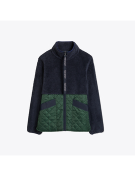 Sherpa Fleece Quilted Jacket by Tory Burch