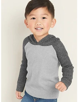 Color Block Thermal Raglan Hoodie For Toddler Boys by Old Navy