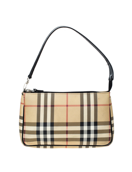 Burberry Beige House Check Pvc Pochette Shoulder Bag by The Luxury Closet
