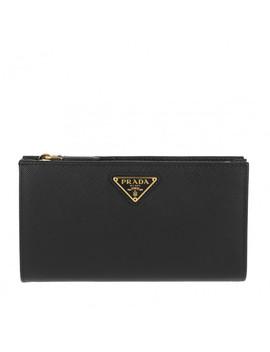 Triangolo Wallet Leather Black by Prada