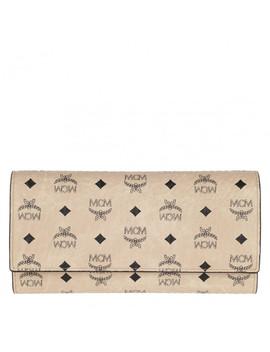 Visetos Original Flap Wallet Large Beige by Mcm
