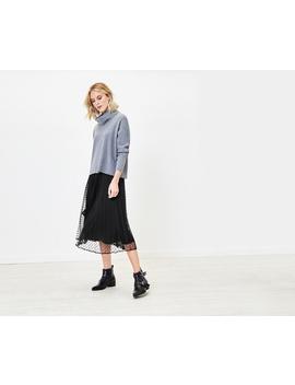 Spot Mesh Midi Skirt by Oasis