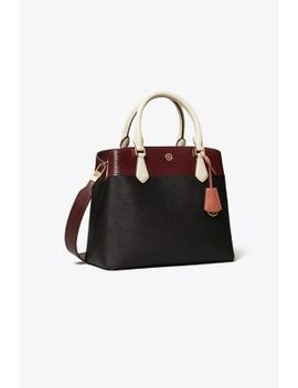 Robinson Mixed Materials Triple Compartment Tote by Tory Burch