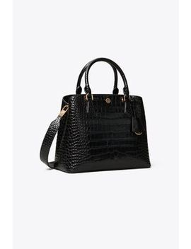 Robinson Embossed Triple Compartment Tote by Tory Burch