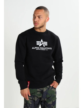 Basic Sweater   Sweatshirt   Black by Alpha Industries