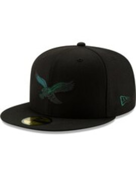Philadelphia Eagles New Era Historic Color Dim 59 Fifty Fitted Hat   Black by New Era
