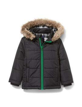 Hooded Puffer Jacket by Janie And Jack