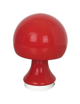 Original 1960s Red Glass Mushroom Desk Light By Peill & Putzler, Germany by 1 Stdibs