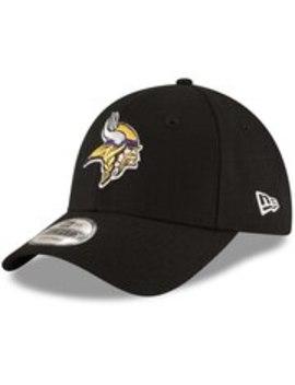 Men's Minnesota Vikings New Era Black The League 9 Forty Adjustable Hat by Nfl