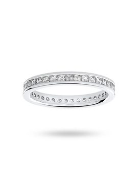 9ct White Gold 1.00cttw Diamond Full Eternity Ring by Goldsmiths