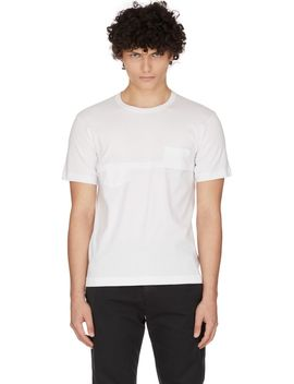 Layered Pocket T Shirt   White by Comme Des Garçons Shirt