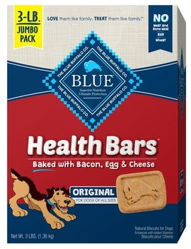 Blue Buffalo Health Bars Baked With Bacon, Egg & Cheese Dog Treats by Blue Buffalo