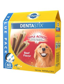 Pedigree Dentastix Large Beef Flavor Dog Treats by Pedigree