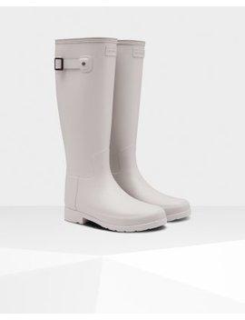 Women's Original Refined Tall Wellington Boots: Clatter Grey by Hunter