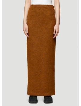 Fuzz Skirt In Brown by Eckhaus Latta