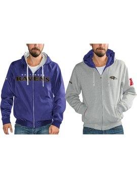 Men's Baltimore Ravens G Iii Sports By Carl Banks Gray/Purple Reversible Hooded Full Zip Jacket by Nfl