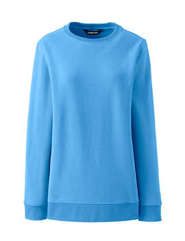 Women's Tall Serious Sweats Crewneck Long Sleeve Sweatshirt Tunic by Lands' End