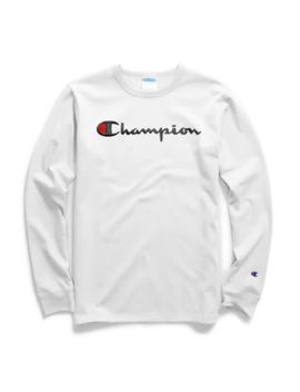 Champion Life® Men's Long Sleeve Tee, Script Logo by Champion