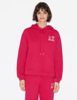 Hoodie With Lettering by Armani Exchange