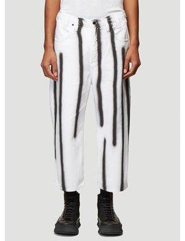 El Denim Pants In White by Eckhaus Latta