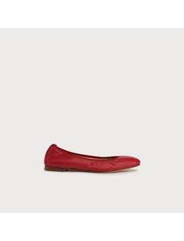 Trina Red Leather Ballet Pumps by L.K.Bennett