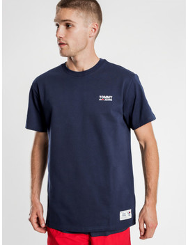 Chest Corp Logo T Shirt In Navy by Glue Store