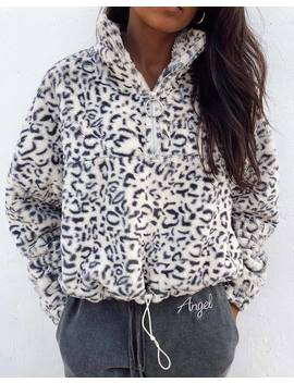 Nero Ring Pull Jacket In White Leopard By Motel by Motel