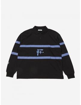 Longsleeve Polo Shirt   Black by Flagstuff