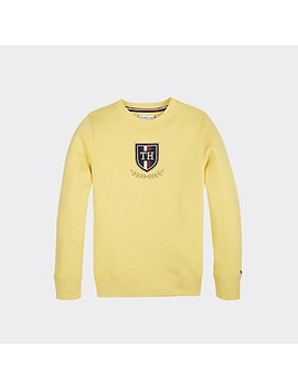 Th Kids Crested Sweatshirt by Tommy Hilfiger